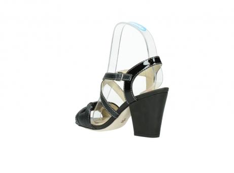 wolky sandalen 4641 la 621 antraciet slangenprint leer_4