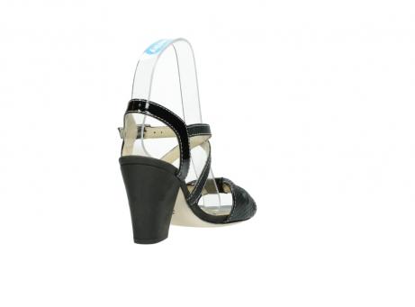 wolky sandalen 4641 la 621 antraciet slangenprint leer_9
