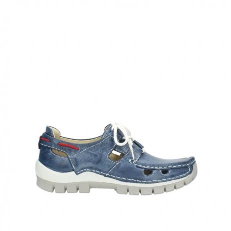 wolky sandalen 4707 seamy go 387 blauw zomer leer