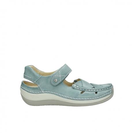 wolky sandalen 4801 venture 378 aqua blau leder