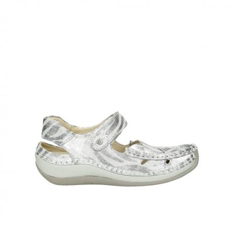 wolky sandalen 4801 venture 912 zebraprint metallic leer
