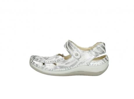 wolky sandalen 4801 venture 912 zebraprint metallic leer_1