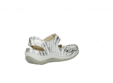 wolky sandalen 4801 venture 912 zebraprint metallic leer_10