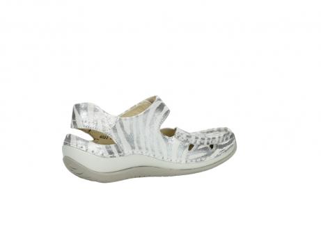 wolky sandalen 4801 venture 912 zebraprint metallic leer_11