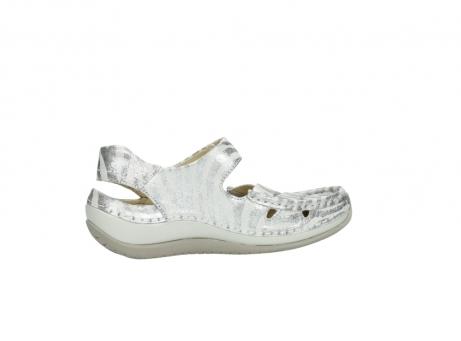 wolky sandalen 4801 venture 912 zebraprint metallic leer_12