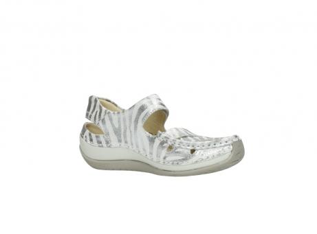 wolky sandalen 4801 venture 912 zebraprint metallic leer_15