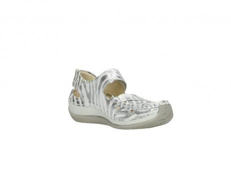 wolky sandalen 4801 venture 912 zebraprint metallic leer_16
