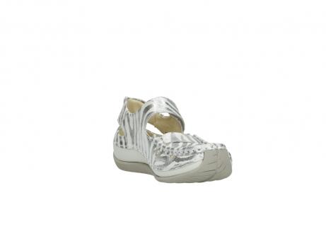 wolky sandalen 4801 venture 912 zebraprint metallic leer_17