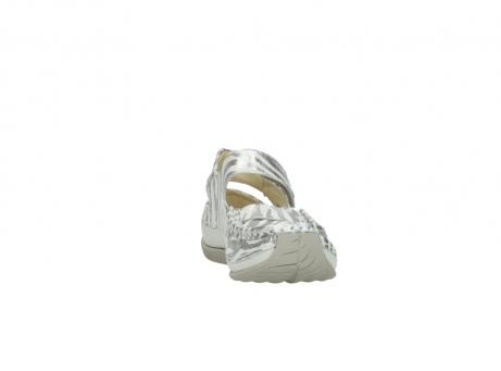 wolky sandalen 4801 venture 912 zebraprint metallic leer_18