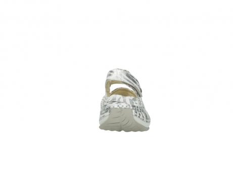 wolky sandalen 4801 venture 912 zebraprint metallic leer_19