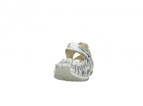 wolky sandalen 4801 venture 912 zebraprint metallic leer_20