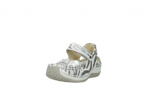 wolky sandalen 4801 venture 912 zebraprint metallic leer_21