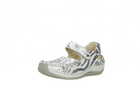 wolky sandalen 4801 venture 912 zebraprint metallic leer_22