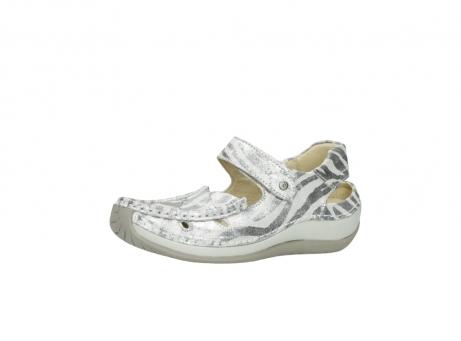 wolky sandalen 4801 venture 912 zebraprint metallic leer_23