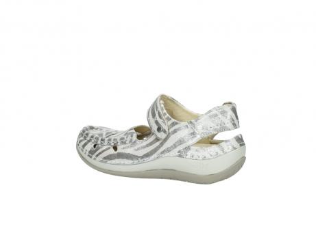 wolky sandalen 4801 venture 912 zebraprint metallic leer_3
