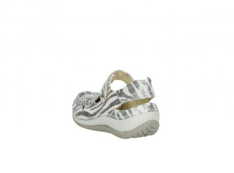 wolky sandalen 4801 venture 912 zebraprint metallic leer_5