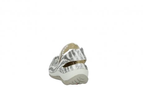 wolky sandalen 4801 venture 912 zebraprint metallic leer_6