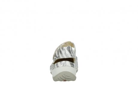 wolky sandalen 4801 venture 912 zebraprint metallic leer_7