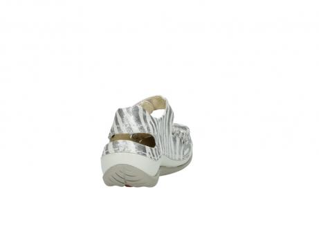 wolky sandalen 4801 venture 912 zebraprint metallic leer_8