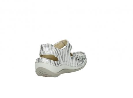 wolky sandalen 4801 venture 912 zebraprint metallic leer_9