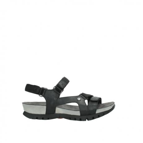 wolky sandalen 5450 cradle 500 zwart gevet leer