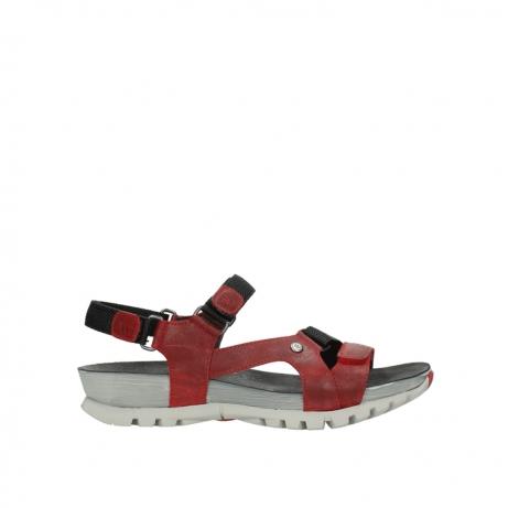 wolky sandalen 5450 cradle 550 rood gevet leer