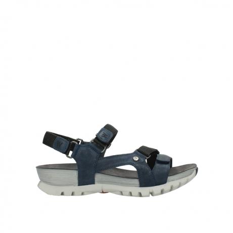 wolky sandalen 5450 cradle 582 denim gevet leer