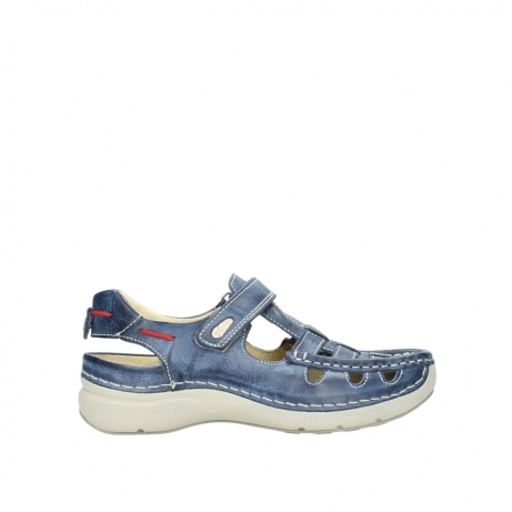 wolky sandalen 7201 rolling summer 387 blauw zomer leer