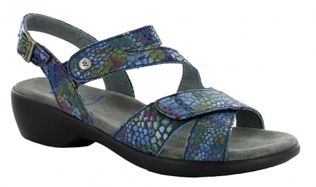 wolky sandals u 00776 fria 80810 blue multi color leather
