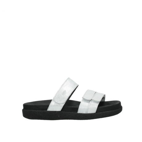 wolky mules 00501 cirrus 70120 cuir blanc casse argent
