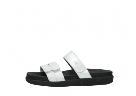 wolky mules 00501 cirrus 70120 cuir blanc casse argent_1