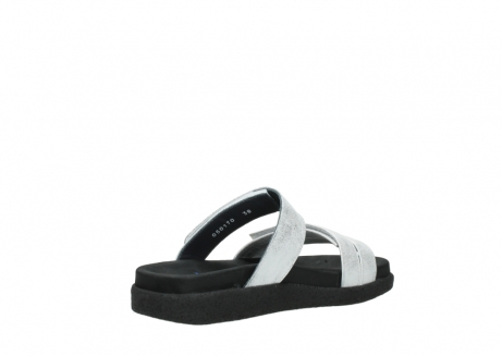wolky mules 00501 cirrus 70120 cuir blanc casse argent_10