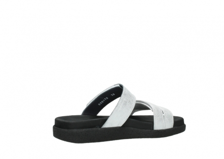wolky mules 00501 cirrus 70120 cuir blanc casse argent_11