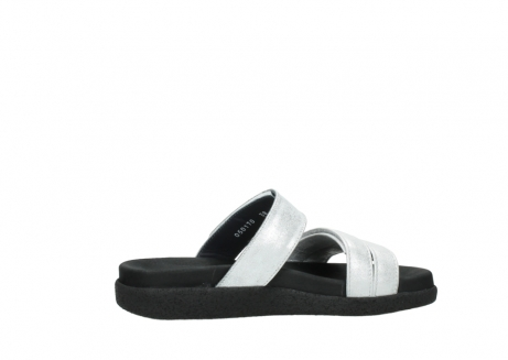wolky mules 00501 cirrus 70120 cuir blanc casse argent_12