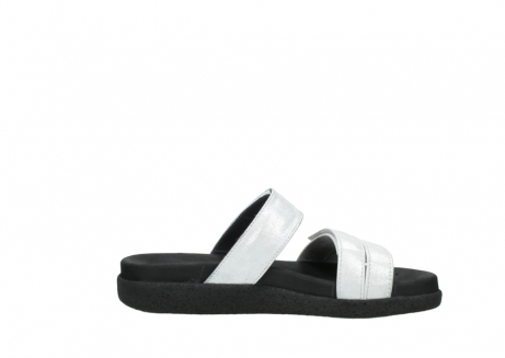 wolky mules 00501 cirrus 70120 cuir blanc casse argent_13