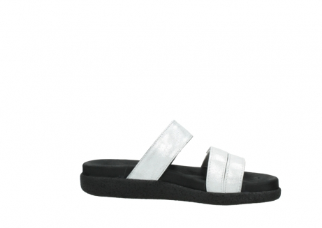 wolky mules 00501 cirrus 70120 cuir blanc casse argent_14