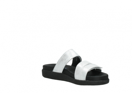 wolky mules 00501 cirrus 70120 cuir blanc casse argent_16