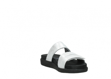 wolky mules 00501 cirrus 70120 cuir blanc casse argent_17