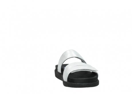 wolky mules 00501 cirrus 70120 cuir blanc casse argent_18