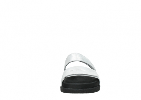 wolky mules 00501 cirrus 70120 cuir blanc casse argent_19