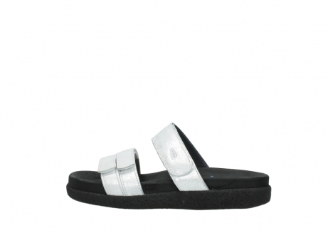 wolky mules 00501 cirrus 70120 cuir blanc casse argent_2