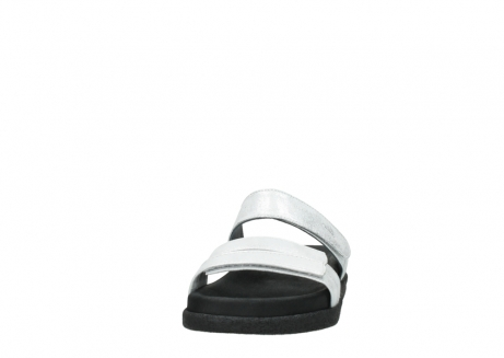 wolky mules 00501 cirrus 70120 cuir blanc casse argent_20