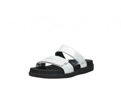 wolky mules 00501 cirrus 70120 cuir blanc casse argent_22