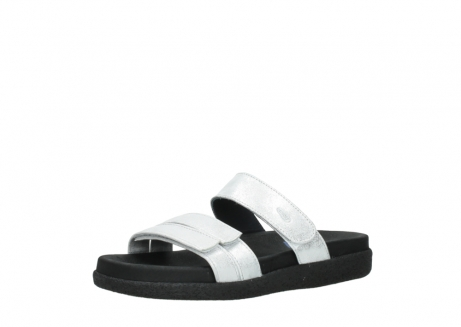 wolky mules 00501 cirrus 70120 cuir blanc casse argent_23