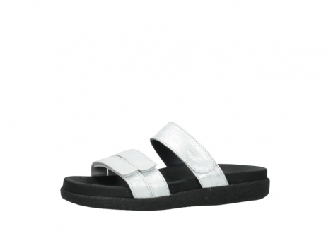 wolky mules 00501 cirrus 70120 cuir blanc casse argent_24