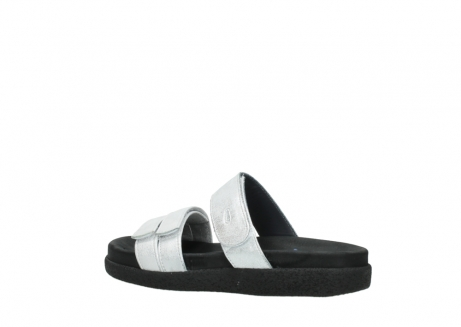 wolky mules 00501 cirrus 70120 cuir blanc casse argent_3