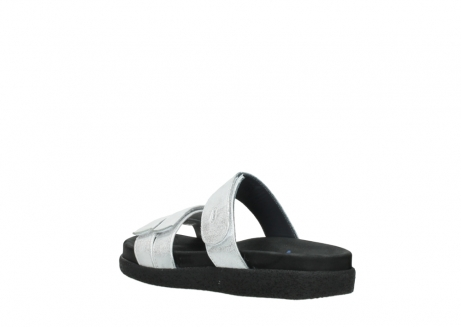 wolky mules 00501 cirrus 70120 cuir blanc casse argent_4