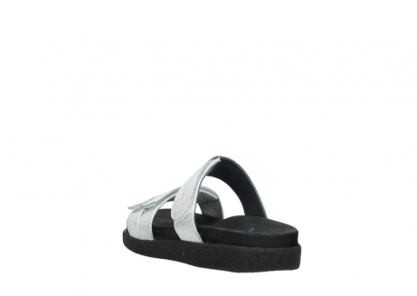 wolky mules 00501 cirrus 70120 cuir blanc casse argent_5