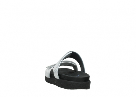 wolky mules 00501 cirrus 70120 cuir blanc casse argent_6
