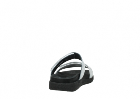 wolky mules 00501 cirrus 70120 cuir blanc casse argent_8